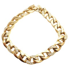 Cartier Diamond Link Yellow Gold Chain Bracelet