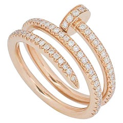 Cartier Rose Gold Full Diamond Juste Un Clou Ring