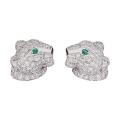 Cartier Panthere De Cartier Diamond Stud Earrings