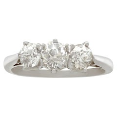 Antique and Contemporary 1.45Ct Diamond and Platinum Trilogy Ring