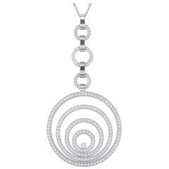 Chopard Diamond Happy Spirit Necklace 3.20 Carat