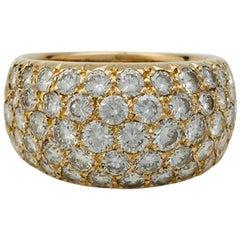 Van Cleef & Arpels pavé Diamonds yellow gold Ring.