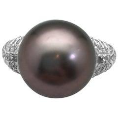 Repossi Ring, Diamonds and a Tahitian Pearl.
