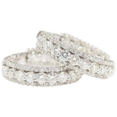 Diamond Hoop Earrings 4.73 Carat White Gold 14 Karat