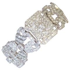 Estate Look White Diamond Bracelet in Platinum