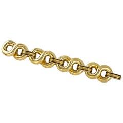 Enamel and Gold Infinity Link Bracelet
