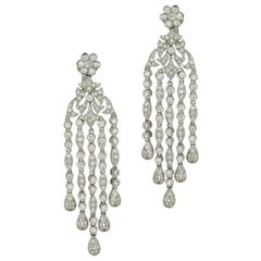 5 Carat Diamond Chandelier Earrings
