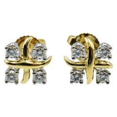 Tiffany & Co. Schlumberger Earrings in 18 Karat Yellow Gold with Diamonds