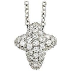 Pasquale Bruni Pave Diamond Cross Necklace
