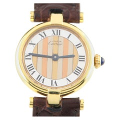 Must de Cartier Women's Vermeil Vendome Quartz Watch with Tri-Gold Dial G20M