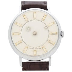 Vintage Louvic Deluxe Mystery Dial Stainless Steel Watch, 1960s