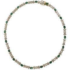 AIG Certified Emerald Diamond Necklace