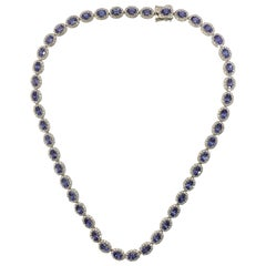 AIG Certified Tanzanite Diamond Necklace