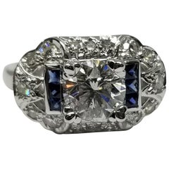 "EGL Certified 1.52 Brilliant Cut D SI3 ""Art Deco"" Ring"