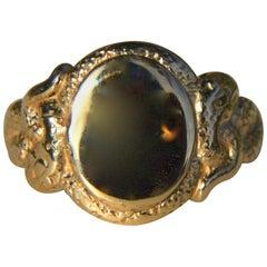 Ingram Cecil Medusa 14 Karat Gold Snake Signet Ring