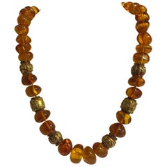 Altfield Amber and Antique Gold Necklace