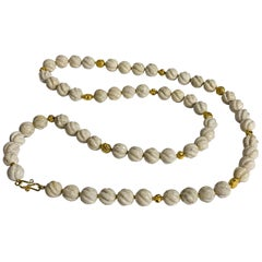 Altfield Ribbed Fossil Coral and Gold Necklace
