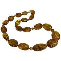 Altfield Amber and Old Gold Necklace