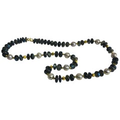 Altfield Labradorite, Pearl and Gold Necklace