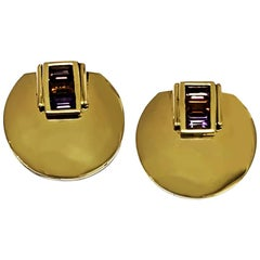 La Nouvelle Bague 18 Karat Yellow Gold Earrings Whit Tourmaline