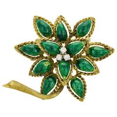 Tiffany & Co. Enamel Diamond Pin
