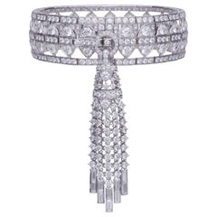 Stephen Webster Deco New York White Diamond Bracelet with Detachable Tassle Set