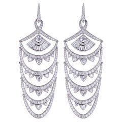 Stephen Webster Deco New York White Diamond Pavé (9.78ct) Earrings