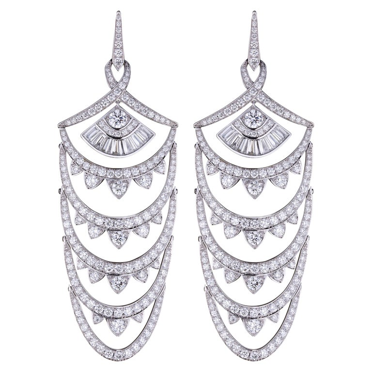 Stephen Webster Couture Voyage New York  Diamond Pavé Earrings For Sale