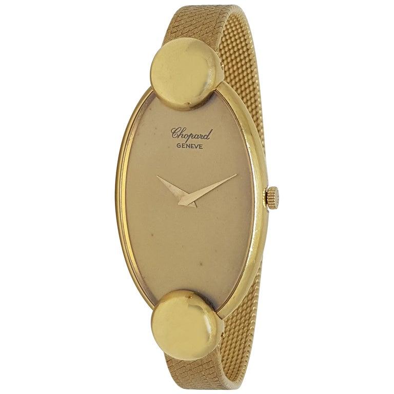 Chopard 18 Karat Yellow Gold Vintage Ladies Watch For Sale