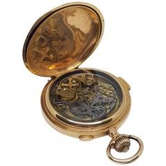 Chronographe Repetition a Quartz Silencieus Rocail Musical Gold Pocket Watch