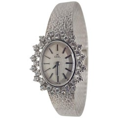 Ebel 18 Karat White Gold Diamond Vintage Ladies Watch