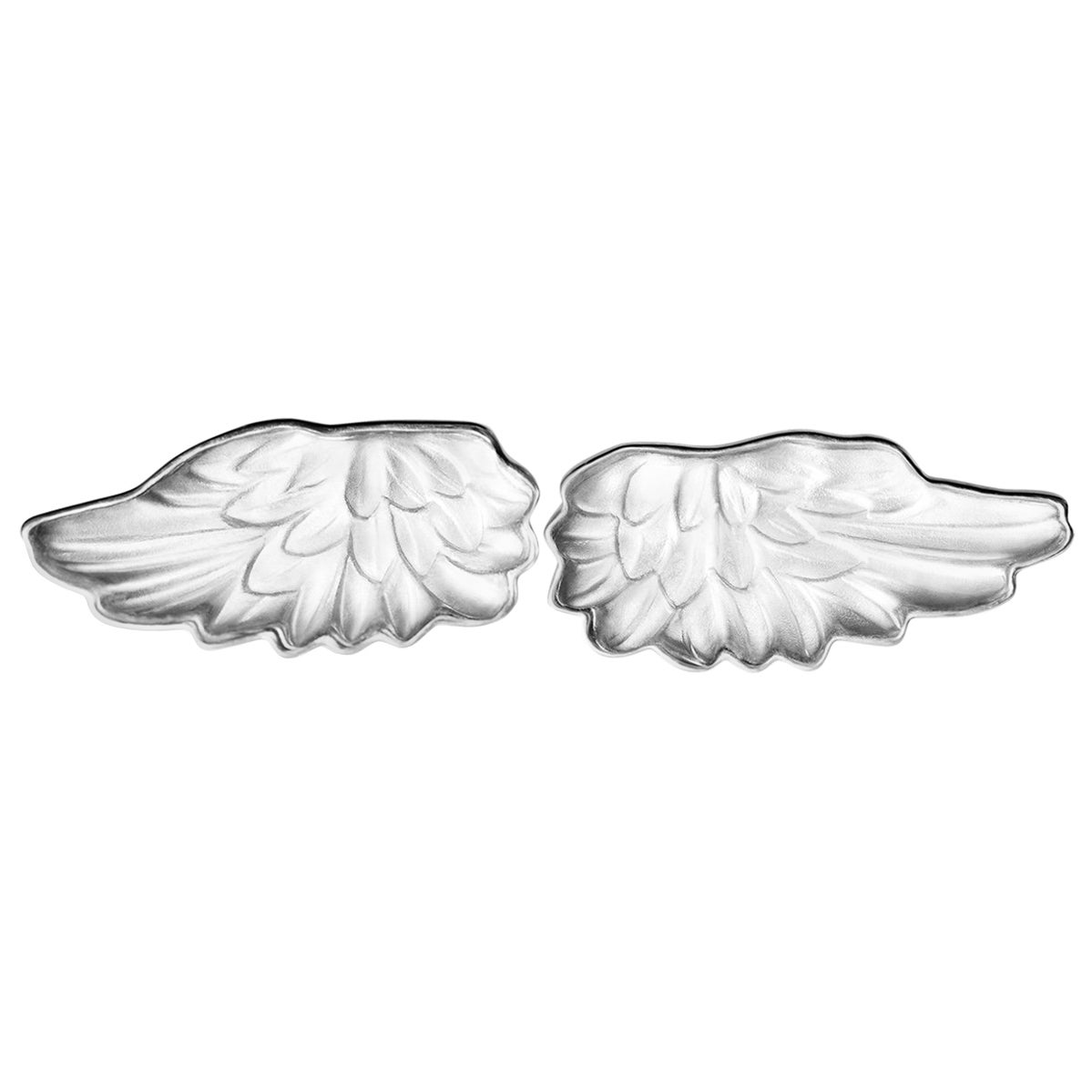 18 Karat White Gold Perseus Cufflinks Designed by the Artist with Rock Crystals