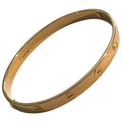 Cartier Love Bracelet Bangle Aldo Cipullo Yellow Gold 18 Karat as New from 1970s