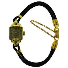 Rolex Yellow Gold Filled Art Deco Ladies Wristwatch, circa 1940s