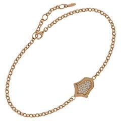 0,16 Karat 18 Karat Rotgold Tulip Diamantarmband