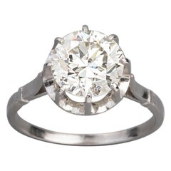 3.15 Carat French Art Deco Diamond Solitaire