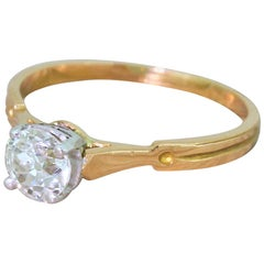 Art Deco 0.70 Carat Old Cut Diamond Engagement Ring