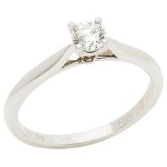Cartier Platinum 0.26ct Round Brilliant Cut Solitaire Diamond Engagement Ring