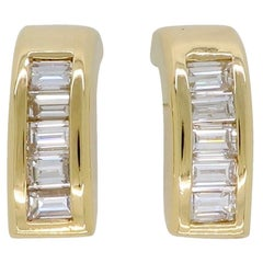 Baguette Cut Diamond Earrings