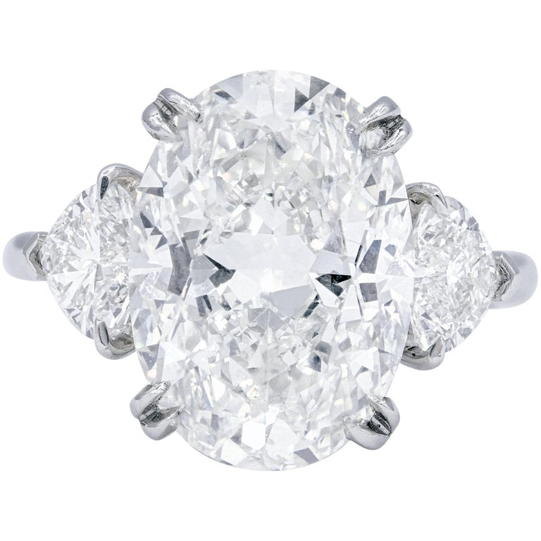 GIA Certified 7.01 Carat I-VS2 Oval Diamond Ring For Sale