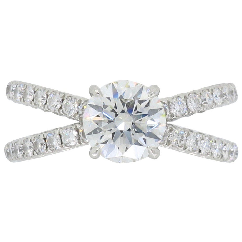 David Yurman Crossover Diamond Engagement Ring