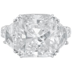 GIA Certified 10.08 Carat Radiant Cut Diamond Ring