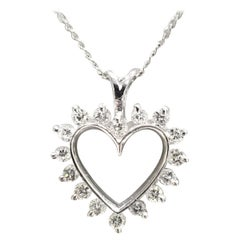 14 Karat Diamond Heart Pendant