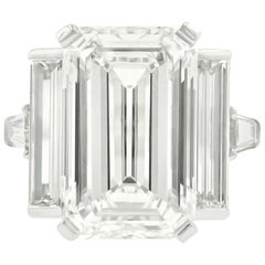Estate 12.75 Carat Emerald Cut Diamond Ring