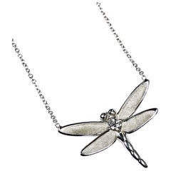 Tiffany & Co. White Gold and Diamond Butterfly Pendant Necklace