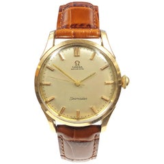 Omega Seamaster Automatic Gold Top and Stainless Steel Wristwatch