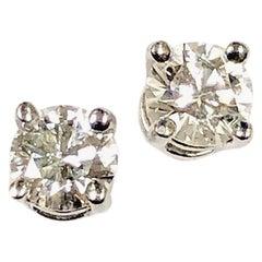 Tiffany & Co. Platinum Set Diamond Stud Earrings