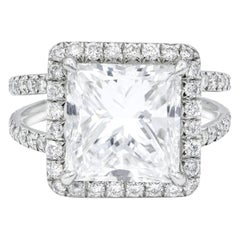 GIA Certified 5.09 Carat E-VS2 Engagement Ring