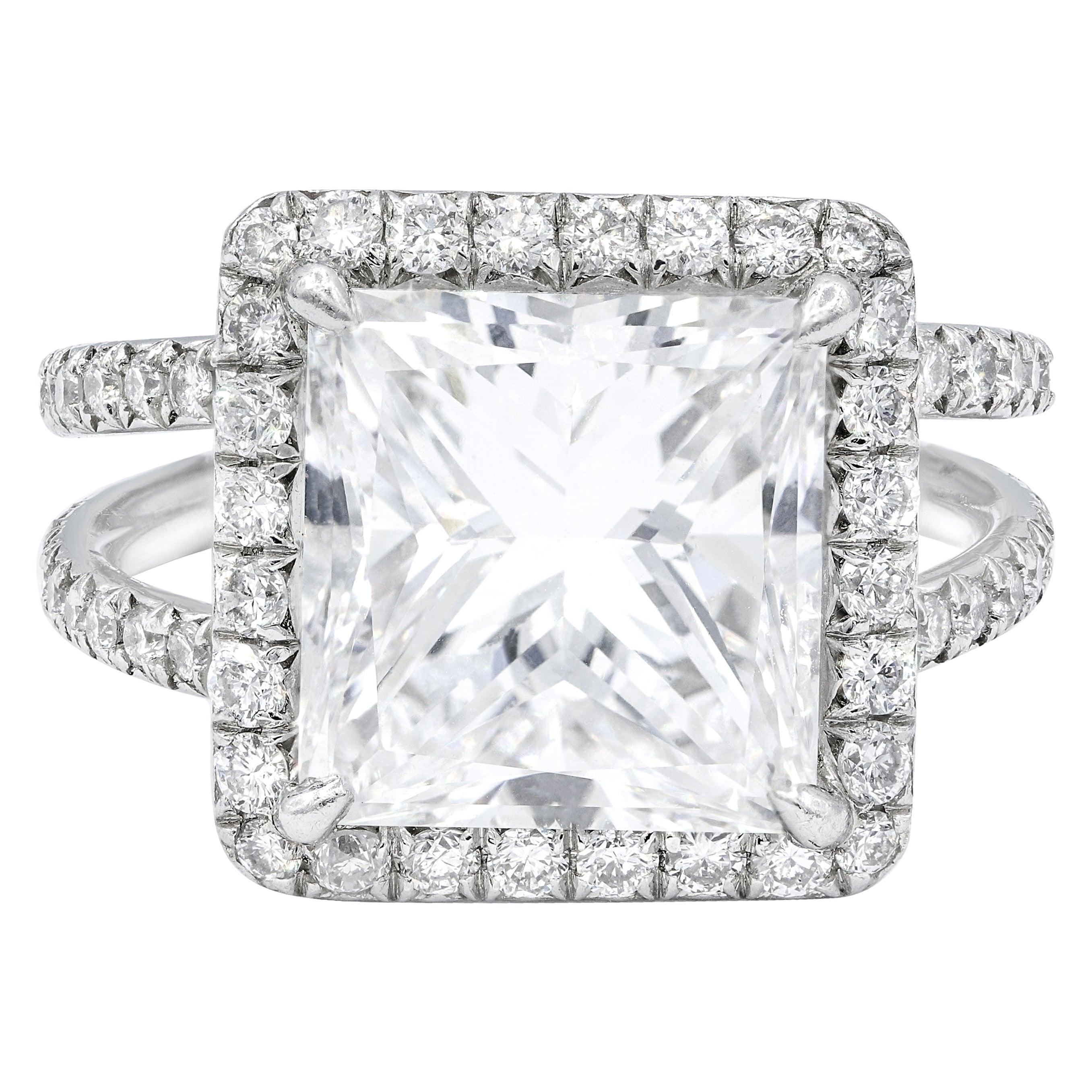 GIA Certified 5.09 Carat E-VS2 Engagement Ring