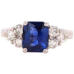 2,05 Karat Saphir und Diamant-Ring